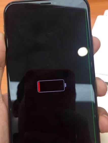 苹果x摔了一下有绿线 iphonex摔了一下出现一条绿线